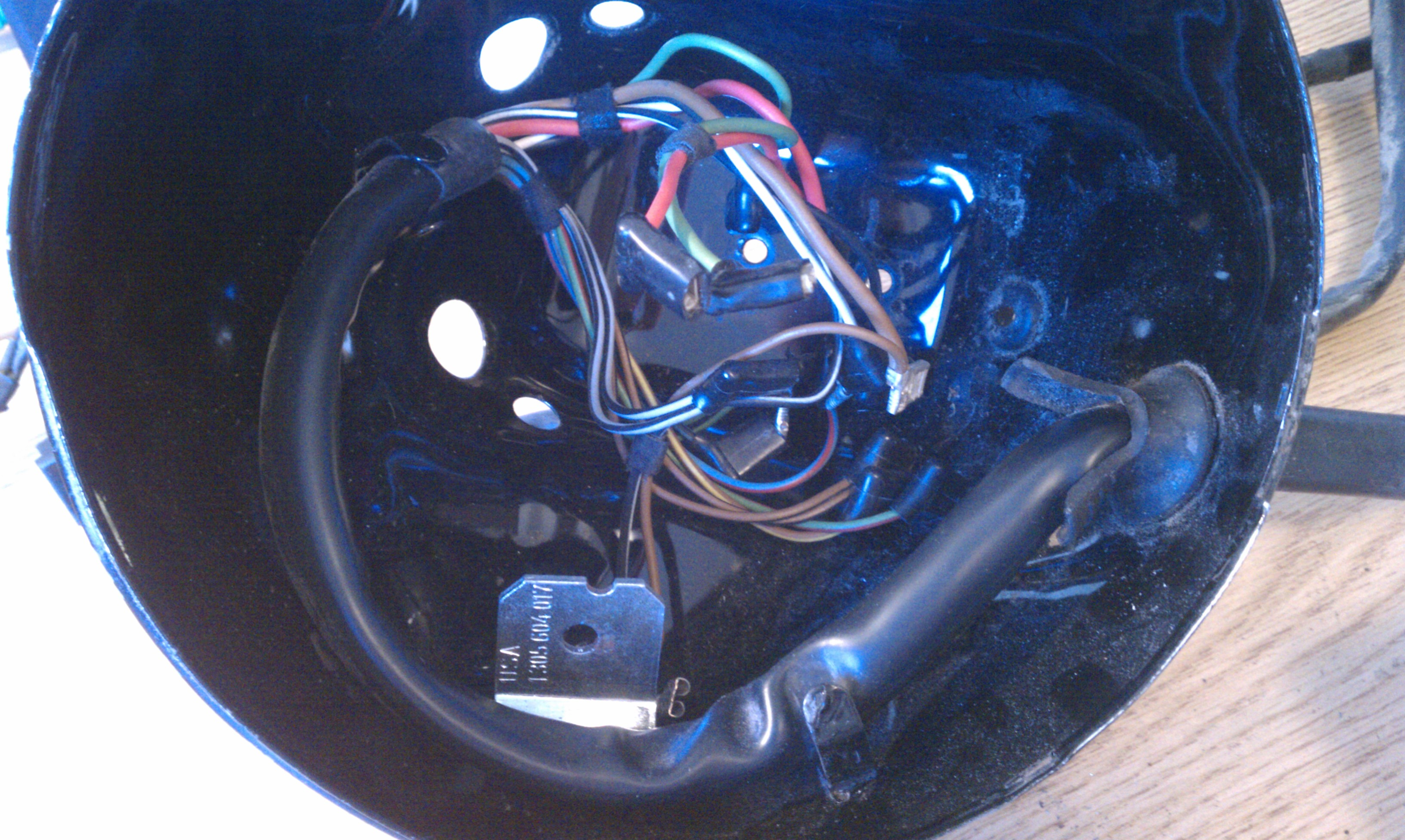 r90s headlight and wiring harness 09